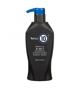 He's a 10 Mens 3-in-1 Daily Shampoo, Conditioner & Body Wash - 295ml