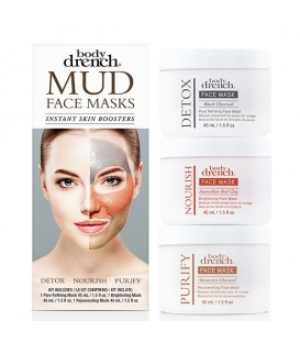 Body Drench Mud Face Masks 3pc