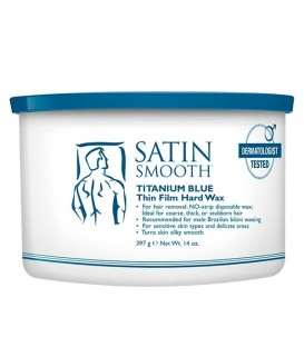 Satin Smooth Titanium Blue Hard Wax - 397g