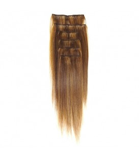 """Hairworx Clip on Extensions Golden Brown 6pc - 20"""""""