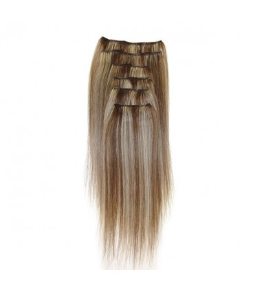 Hairworx Clip on Extensions Dark Blonde 6pc - 20""