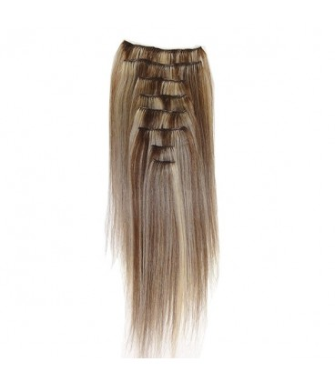 Hairworx Clip on Extensions Dark Blonde 8pc - 14""