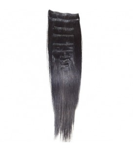 Hairworx Clip on Extensions Black 8pc - 14""
