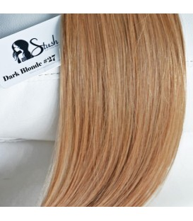 STUSH Peruvian Virgin Remy Clip-ins Dark Blonde 18""