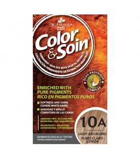 COLOR & SOIN Natural Ammonia Free Hair Color Kit - 10A Light Ash Blond