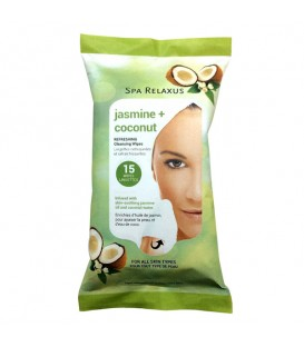 Relaxus Jasmine/Coconut Refreshing Cleansing Wipes